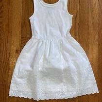 Gap Kids Girls White Eyelet Tank Dress Size S Super Cute Euc Photo