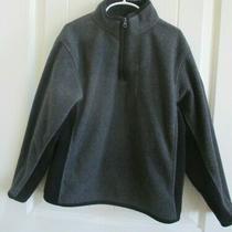 Gap Kids Gray Pullover 1/4 Zip Jacket Sz M Medium 8 Collar Zipper Pocket Boys  Photo