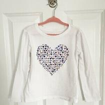 Gap Kids Heart Emoji Long Sleeve Tee Size Xs Photo