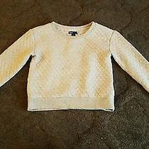 Gap Kids Heathered Gray Quilted Crew Sweatshirt Girls Sz L (10) Euc Photo