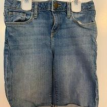 Gap Kids Jean Bermuda Shorts Size 10-11 Adjustable Waist Great Used Condition Photo