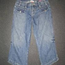 Gap Kids Jeans 14 Girls Distressed Capri/cropped Vintage Photo