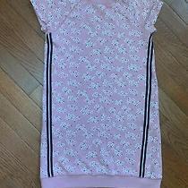 Gap Kids Large 10 Girls Dress Short Sleeve Pink Flowers L Photo