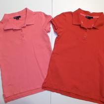 Gap Kids Lot of 2 Uniform S/s Polo Shirts Red Pink Sz M (8) Girls Guc Photo