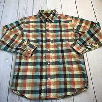 Gap Kids - Multi Color Plaid Button Down Long Sleeve Shirt - Boys Size Large Photo