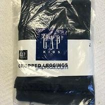 Gap Kids Navy Blue Cropped Leggings With Lace Trim Sz S (6/7) Nwt Photo