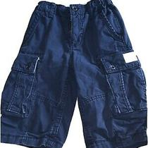 Gap Kids Navy Blue Khaki Cargo Shorts Euc Adj Waist Sz  M Medium 8 Regular  Photo