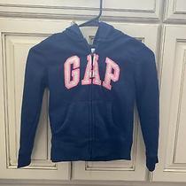 Gap Kids Navy Blue/ Pink Zip Hoodie Size S (6-7) Photo