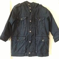 Gap Kids Navy Blue Twill Barn Jacket Coat Sz S 6 7 Photo