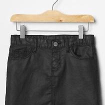 Gap Kids Nwt Black Coated Adjustable Waist Mini Skirt 10                Msrp 30 Photo
