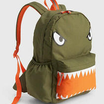 Gap Kids Nwt Green Critter Monster Senior Backpack 50 Photo