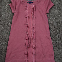 Gap Kids Pink Mauve Sweater Dress Ruffle Excellent Xs 4 5 Photo