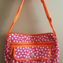 Gap Kids Pink Orange White Polka Dot With Heart Messenger Bag Photo