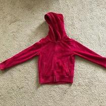 Gap Kids Pink Zip-Up Hoodie With Fur Inside and Outside Size L (10) Photo