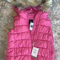 Gap Kids Prima Loft Pink Puffy Vest Size 6-7 New Photo