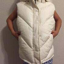 Gap Kids Reversible Puffer Quilted Vest Solid Cream/ Floral Green Size Xl 12 Photo