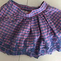 Gap Kids Sarah Jessica Parker Sjp Girls Gingham Pink Blue Skirt With Bunny Sz Sm Photo