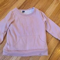 Gap Kids Sherpa Lined Thick Sweatshirt Sweater Pink Xs 4 Girls Photo