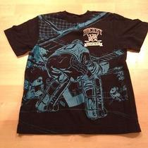 Gap Kids Short Sleeve Tshirt Size 6/7  Blue With Hockey Graphics on Front Photo