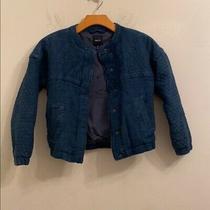 Gap Kids Solid Blue Jacket Size M Photo