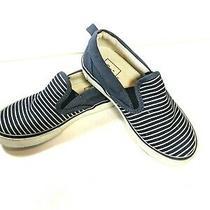 Gap Kids Toddler Slip on Loafer Sneaker Navy Blue Striped Shoes Size 11 Euc Photo