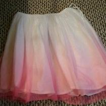 Gap Kids White and Pink Tulle Skirt. Gently Worn  Size Medium 8 Photo