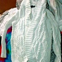 Gap Kids White Cable Knit Cardigan Sweater Girls Size 6-7 Photo