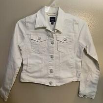 Gap Kids White Denim Jacket Girls Size L Photo
