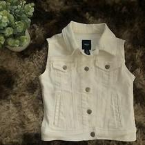 Gap Kids White Jean Jacket Size 8 9 Medium  Photo