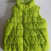 Gap Kids Youth Girls Neon Green Full Zip Snap Puffer Vest Youth Size S 6-7 Photo