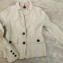 Gap Ladies Cream Blazer/jacket Size 12. Euc Photo