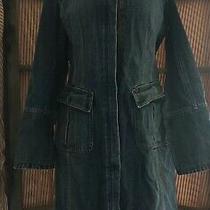 Gap Ladies Denim Jacket Corset Tie Back Size M Photo