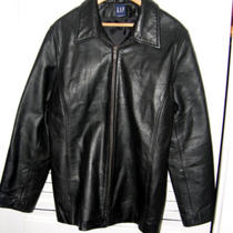 Gap Ladies Genuine Leather Jacket Sz. Xl Photo