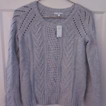 Gap Ladies Gray Cable Sweater-Size S-New With Tag Photo