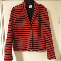 Gap Ladies Orange & Navy Striped Jacket Size 18 Bnwot Photo