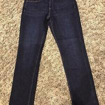Gap Ladies Real Straight Dark Blue Jeans Size 28 Regular Bnwt Photo