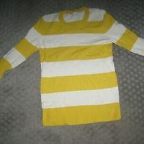 Gap Ladies Sweater Size S Yellow and White Stripe Photo