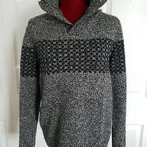 Gap Lambswool Sweater 3-Button Collar Thick Pullover Small Photo