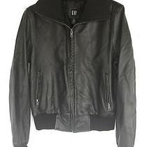 Gap Leather Bomber Jacket Photo
