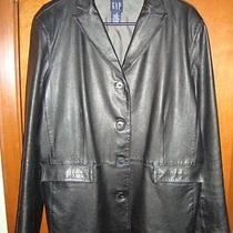 Gap Leather Jacket Size Large Photo