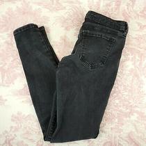 Gap Legging Jegging Jeans High Stretch Skinny Size 4 Black  Photo