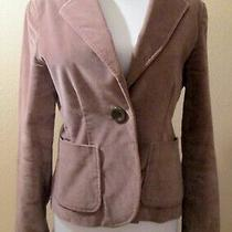 Gap Light Brown Brushed Cotton One Button Lined Blazer Misses Size 4  Nice Photo