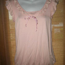 Gap Light Pink Sleeveless Ruffle Detail Top Sz Xs Nice Photo