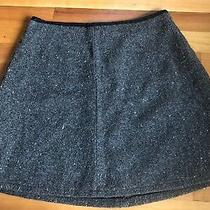 Gap Lined Tweed Lined Grey Mini Skirt Womens Size 8 Photo