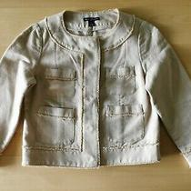 Gap Linen Collarless Chanelle Inspired Jacket Woman Size Small  Photo