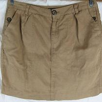 Gap Linen Skirt Womens 10 Brown Short Mini Photo