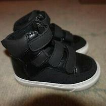 Gap Little Boys Toddler Black Hightop Sneaker Tennis Shoes Size 5 Photo