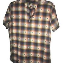 Gap Lived in Mens Multi-Colored Flannel Short Sleeve Shirt Size Medium M Photo