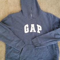 Gap  Logo Hoodie Sweatshirt Sz L Gently Worn Greyish/blue Sewn on Logo on Front  Photo