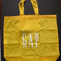 Gap Logo Yellow Nylon Tote Bag Gift Bag Beach Bag Photo
